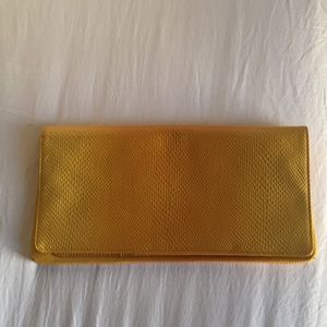 Nordstrom Yellow Faux-Snakeskin Clutch